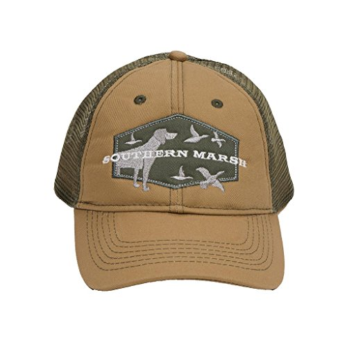 Southern Marsh Trucker Hat Hunting Dog Khaki