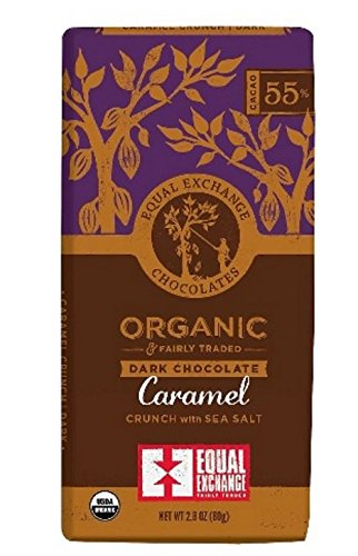 Equal Exchange Organic Dark Chocolate Caramel crunch with sea salt 2.8 oz 1 Perishability: perishable Package Type: individual item multi-serving Container Material: paper or cardboard
