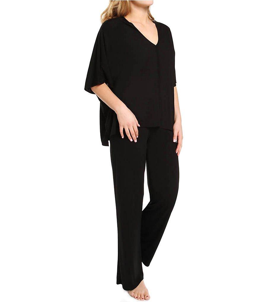 Natori Women's Shangri-La Caftan Pajama, Black, Medium