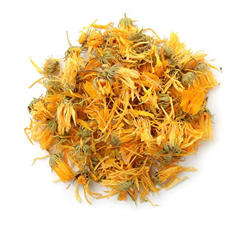 bMAKER Kosher Certified Dried Calendula Whole Flowers 1 Lb- Natural Calindula Officinalis Tea - Sourced from Egypt - Gluten-Free Kalendula for Making Herbal Teas, Oil, Balm, Salve