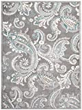 Cheap Mayberry Rugs INT7416 Paisley Gray Transitional Area Rug, 5'3″ x7'3