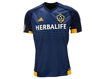 adidas LA Galaxy lejos fútbol Jersey, azul marino/amarillo ...