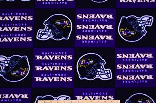 PRECUT 1.5 Yards FLEECE Baltimore Ravens Football NFL Fabric