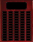 60 Plate Perpetual Plaque 16''x20'' FREE CUSTOM ENGRAVING Red Piano Finish with Black Plates