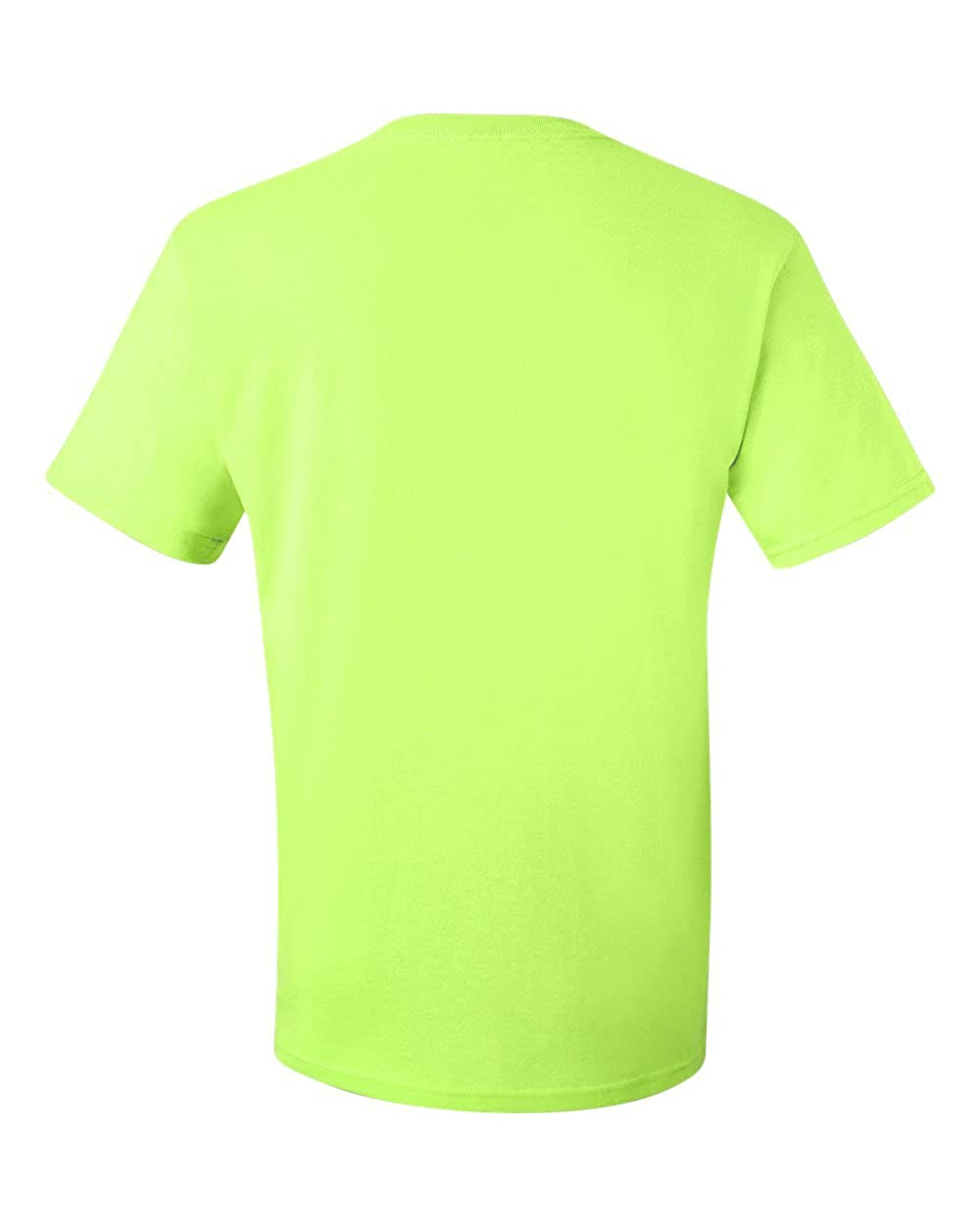 JERZEES Mens Heavy Blend Cotton//Poly T-Shirt Small Safety Green