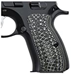 CZ 75 Compact G10 Grips, Snake Scale Texture, Cool Hand Brand Grey/Black