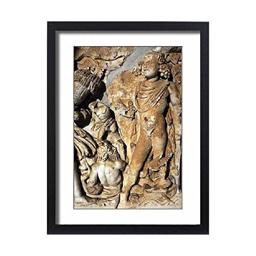 Third Sarcophagus (Framed 24x18 Print of Sarcophagus, marble. Tel Turmus. Roman period. 3rd century A (14379090))