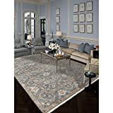 Magi Hand-knotted Faith Foggy Grey New Zealand Wool Runner Rug (2'6 x 9')