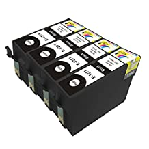 Ink & Toner Geek ® 4 Pack Remanufactured Replacement Inkjet Cartridges for Epson T127 #127 (T127120) Black For Use With Epson Stylus NX530 Stylus NX625 WF-7010 WF-7510 WF-7520 WorkForce 545 WorkForce 60 WorkForce 630 WorkForce 633 WorkForce 635