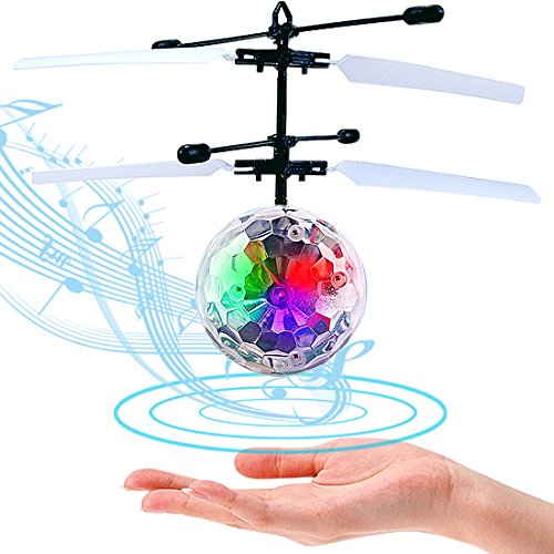 LISOPO Kid RC Toys, RC Flying Ball, Infrared Induction Helicopter Ball with Shinning LED Lights...