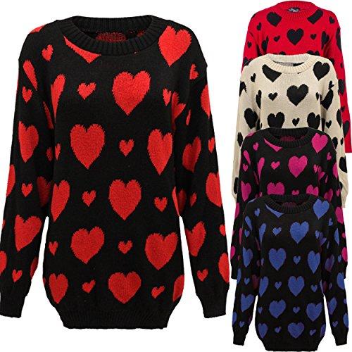 Missmister - Jerséi - suéter - para mujer STONE (Black Heart)