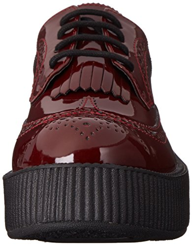 Shoes Burgundy U Red Viva K T Patent Brogue Creeper Women's nqZa4E4