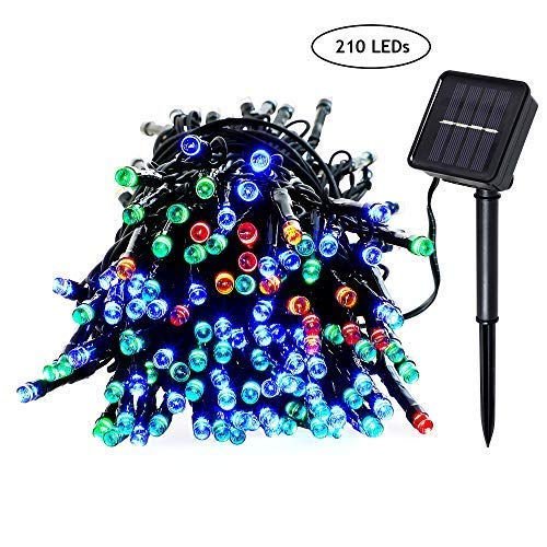 Christmas outdoor solar color waterproof LED light string 8 Modes