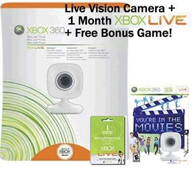 - Xbox 360 Live Vision Camera with 1 Month Xbox Live and Bonus Game