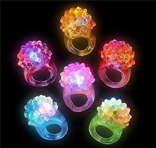 Rhode Island Novelty Flashing LED Bumpy Rings | 72-Pack | -