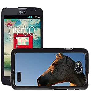 Super Stella Slim PC Hard Case Cover Skin Armor Shell Protection // M00104374 Equine Mare Animal Horse Farm // LG Optimus L70 MS323