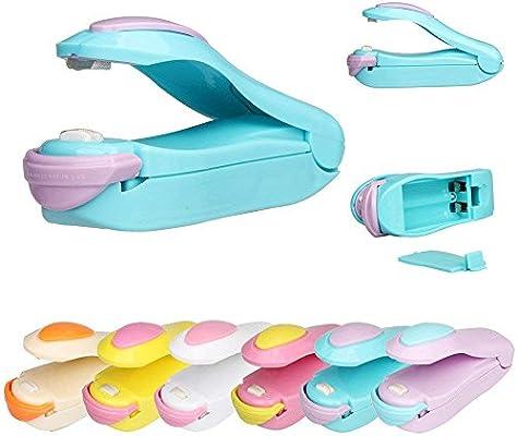 Valuu 2Pcs Mini Handheld Sealer Heat Bag Sealer Mini Sealing Machine Hand Pressure Heat Sealing Machine Handheld Plastic Bag Sealer Mini Food Sealer ...