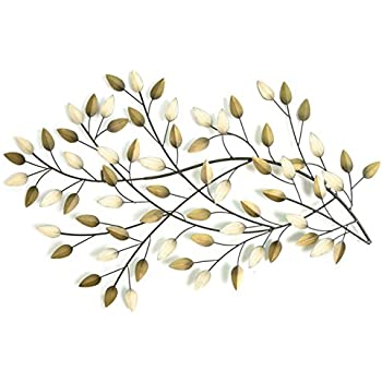 Delicieux Stratton SHD0062 Home Blowing Leaves Wall Decor, Champagne And Gold