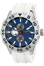 Nautica Men's N15567G BFD 100 Multifunction Blue Dial Watch