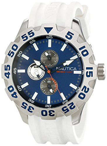 Nautica Men's N15567G BFD 100 Multifunction Blue Dial Watch