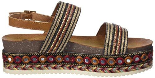 Sandals Toe 64397 Brown Women's Camel Open Refresh tw6SW