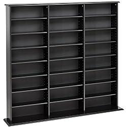 Prepac Triple Width Wall Storage Cabinet, Black