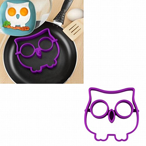 Binmer(TM)Newest Hot Sale Egg Owl Shaper Silicone Moulds Cooking Tools Christmas Supplies
