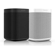 All-new Sonos One – 2-Room Voice Controlled Smart Speaker with Amazon Alexa Built In 2 Pack (1 Black / 1 White)