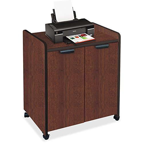 Mayline Mobile Utility Cabinet - Mayline Small Office - Home Office Mobile Utility Cabinets (Laminate Exterior) In Black Paint,