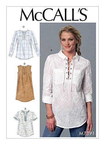 McCall\'s Sewing Pattern 7391 Misses Size 4-14 Easy Tops Tunic Dress ...