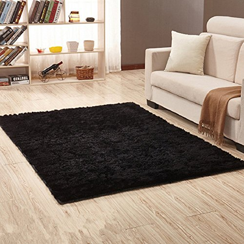 (Bnxbb Ultra Soft 4Cm Thick Indoor Modern Shag Area Rugs Pads,Rectangle,Size:24