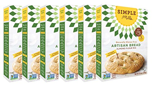 Simple Mills Almond Flour Mix, Artisan Bread, 10.4 oz, 6 count ()