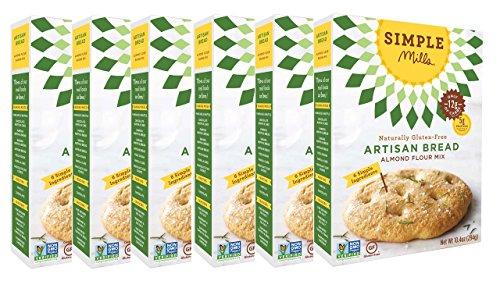 (Simple Mills Almond Flour Mix, Artisan Bread, 10.4 oz, 6 count)