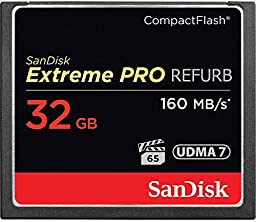 SanDisk Extreme PRO 32GB CompactFlash Memory Card UDMA 7 Speed Up To 160MB/s- SDCFXPS-032G-X46 (Certified Refurbished)