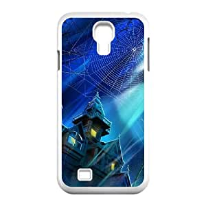 Samsung Galaxy S4 9500 Cell Phone Case White_Spooky House Night Hallowmas Halloween Olfkx