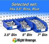 Pegboard Bins – 24 Pack Blue - Hooks to Any Peg