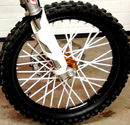 Bykas MADE IN USA White-Spoke, Covers, Wraps, Skins, Coats-Dirt Bike 72 Spokes Bykas Inc.