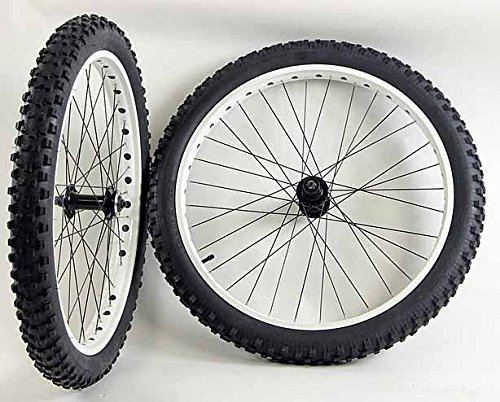 26 inch Fat Tire Bike Bicycle Wheels 26 x 3.0 Duro Tires and Tubes 135 /170mm by Knockout wheels