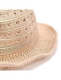 accsa UPF30 + - Sombrero de paja plegable para mujer