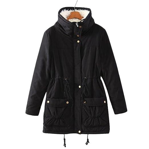 7942965dd Aro Lora Women's Winter Warm Faux Lamb Wool Coat Parka Cotton Outwear Jacket
