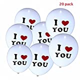 Party Tonight 20 Pk Balloons White Colors I Love You : LED Balloons.Great for Anniversary gift,Birthday or Moth day decoration or any Party
