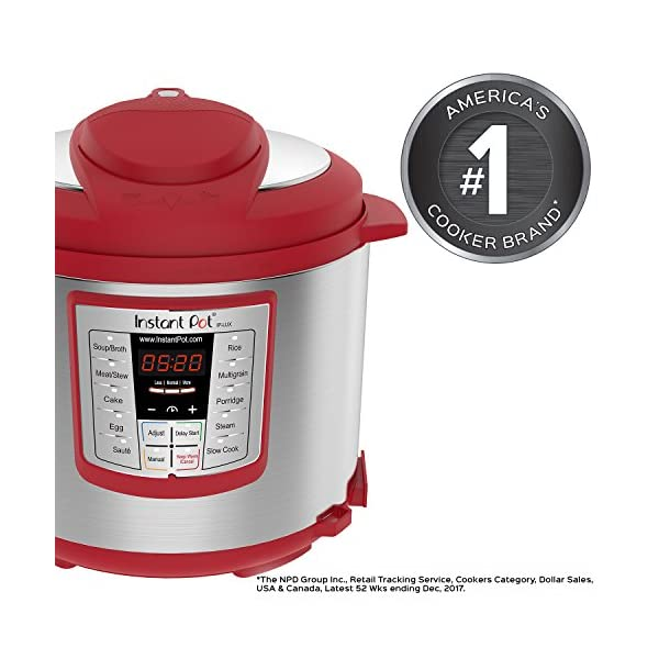 Instant Pot Lux 6-in-1 Electric Pressure Cooker, Slow Cooker, Rice Cooker, Steamer, Saute, and Warmer|6 Quart|Red|12 One… 2