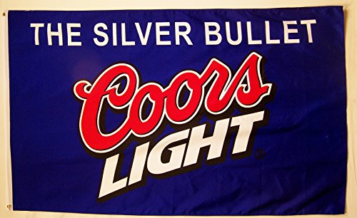 Coors Light Blue Beer Flag 3' X 5' Indoor Outdoor Silver Bullet Banner