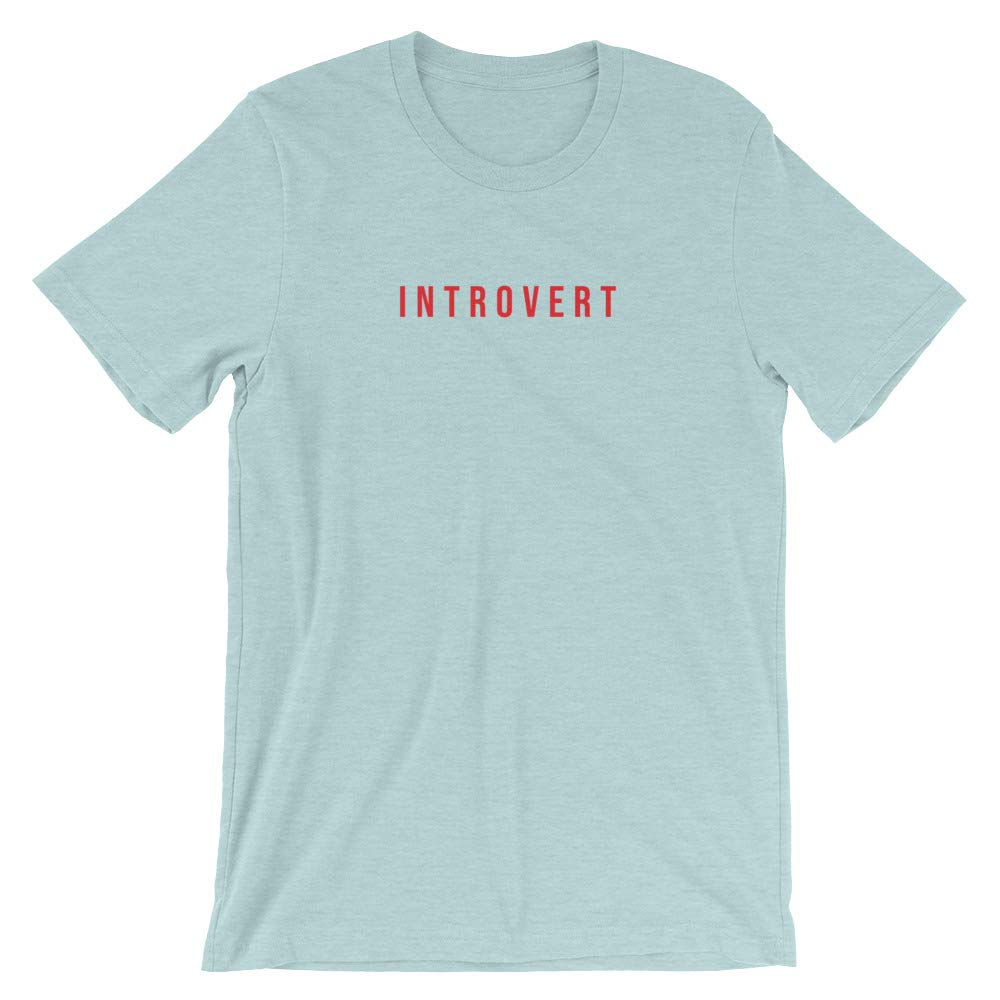 Womens Unisex T-Shirt Funny Mindpop Introvert T Shirt//Introverted Tee//Anti Social//Mens 5 Colors//Socially Awkward//Cute
