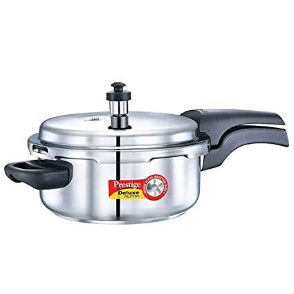 Prestige Deluxe Alpha Outer Lid Stainless Steel Pressure Cooker (3L, Silver)