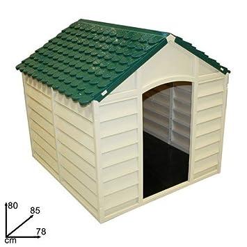 50701 Caseta de resina para perros 78 x85 x 80 cm en color verde: Amazon.es: Jardín