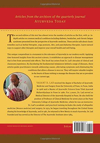 Ayurvedic Perspectives on Selected Pathologies