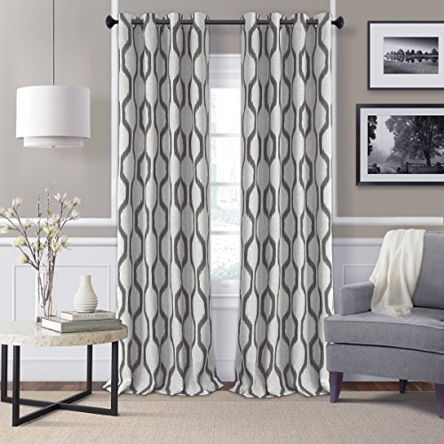 Elrene Home Fashions 026865901269  Room Darkening Grommet Linen Window Curtain Drape Panel, 52