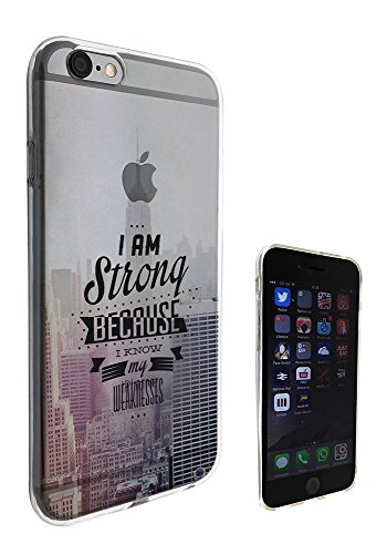c0404 - Cool Fun Trendy cute kwaii I am strong because i know my weaknesses NYC city inspirational quote Design iphone 6 6S 4.7'' Fashion Trend Protecteur Coque Gel Rubber Silicone protection Case Coq