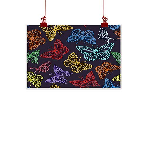 (Mannwarehouse Light Luxury American Oil Painting Seamless Pattern with Contour of Butterflies Home and Everything 35
